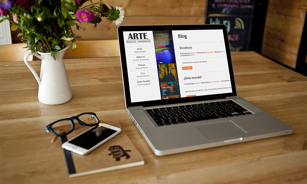 Diseño de página web en WordPress Manuel Sandoval