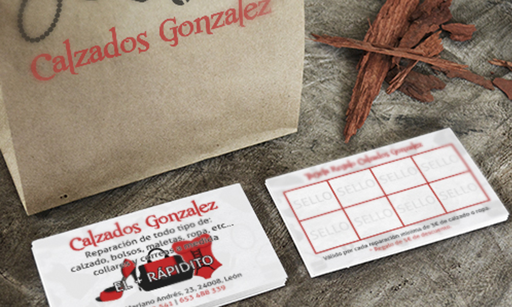 Diseño de logotipo y tarjetas de visita Calzados González