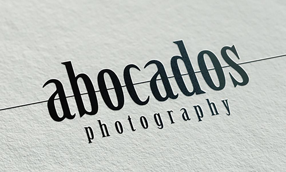Diseño de logotipo y tarjetas de visita Abocados fotografía