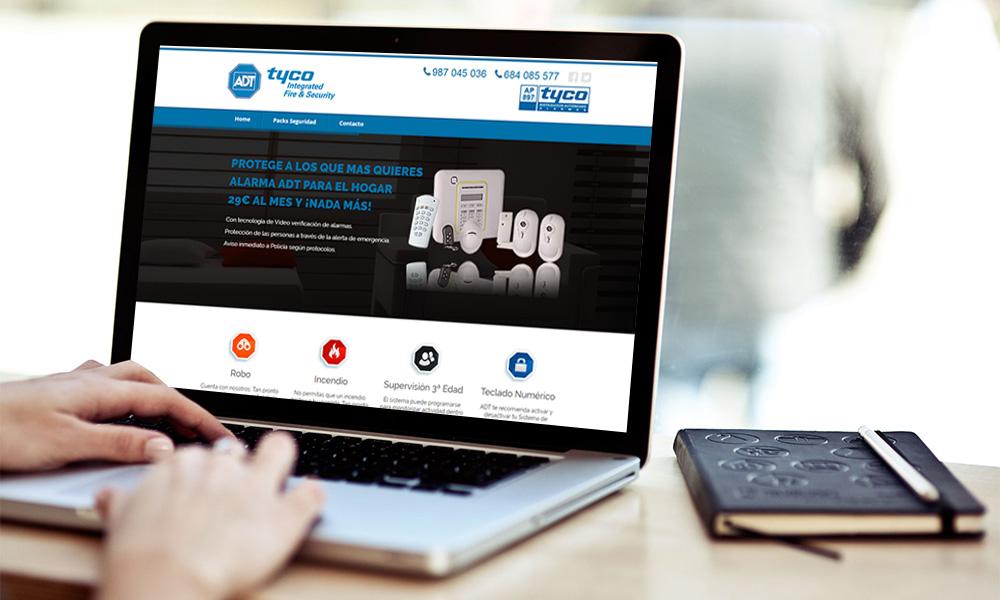 Diseño página web ADT Tyco