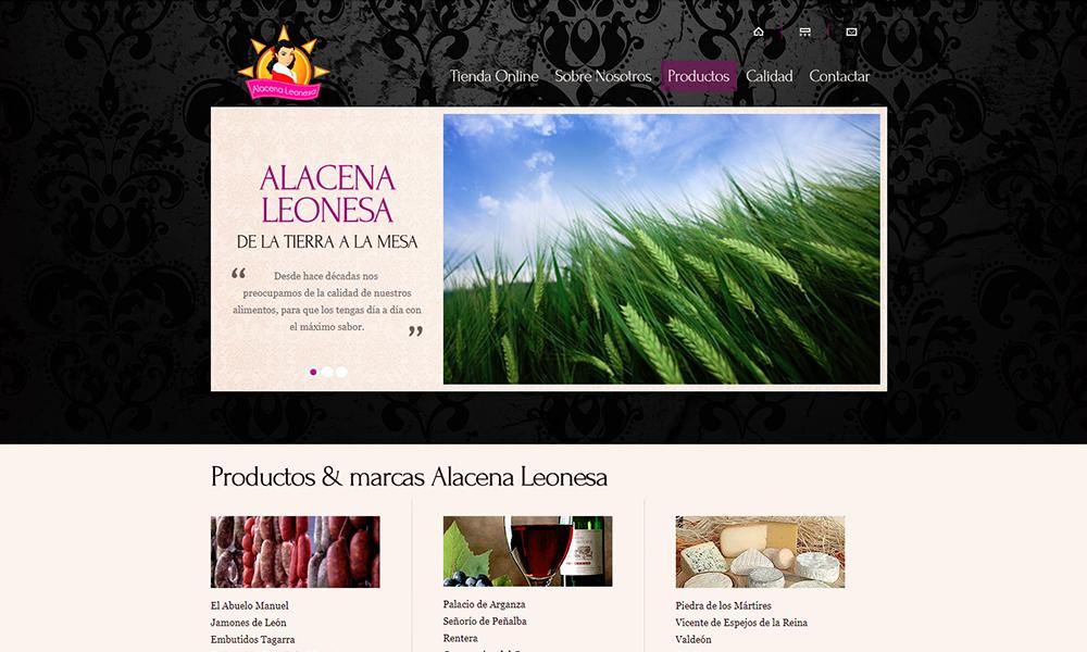 Diseño de página web Alacena Leonesa