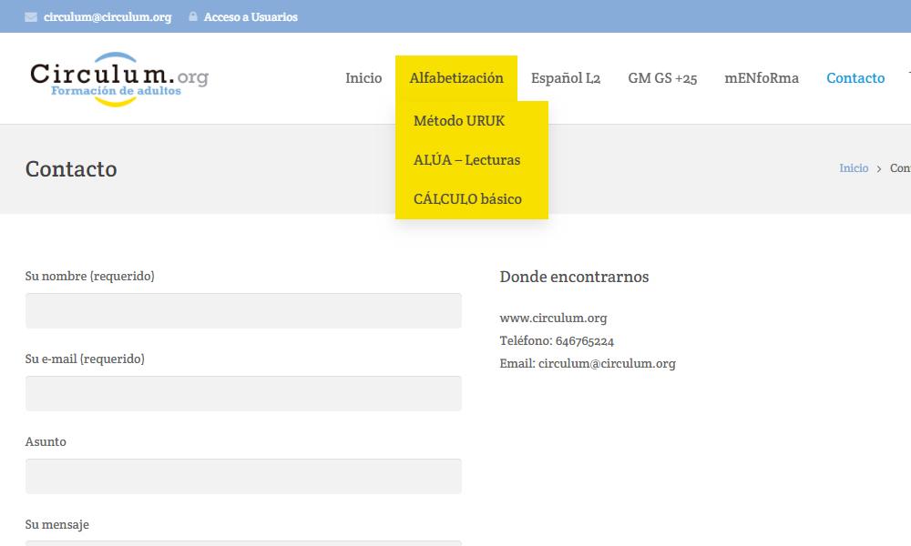 Diseño de página web y brand corporativo Circulum