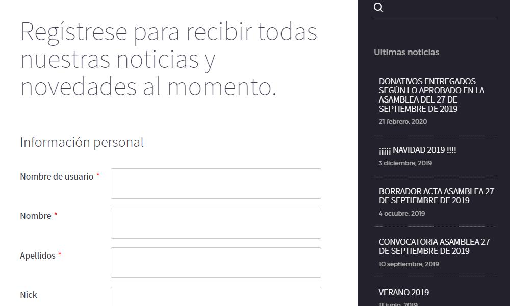 Diseño de página web para organización Plataforma Blanca Clientes de Madrid